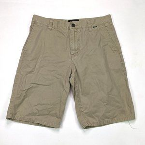 Hurley One and Only Mens Size 30 Khaki Shorts